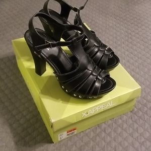 Black Strappy Platform Heels